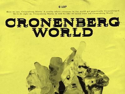 Cronenberg World I faces poster cinema celebrities horror distorted surreal rickandmorty cronenberg collage