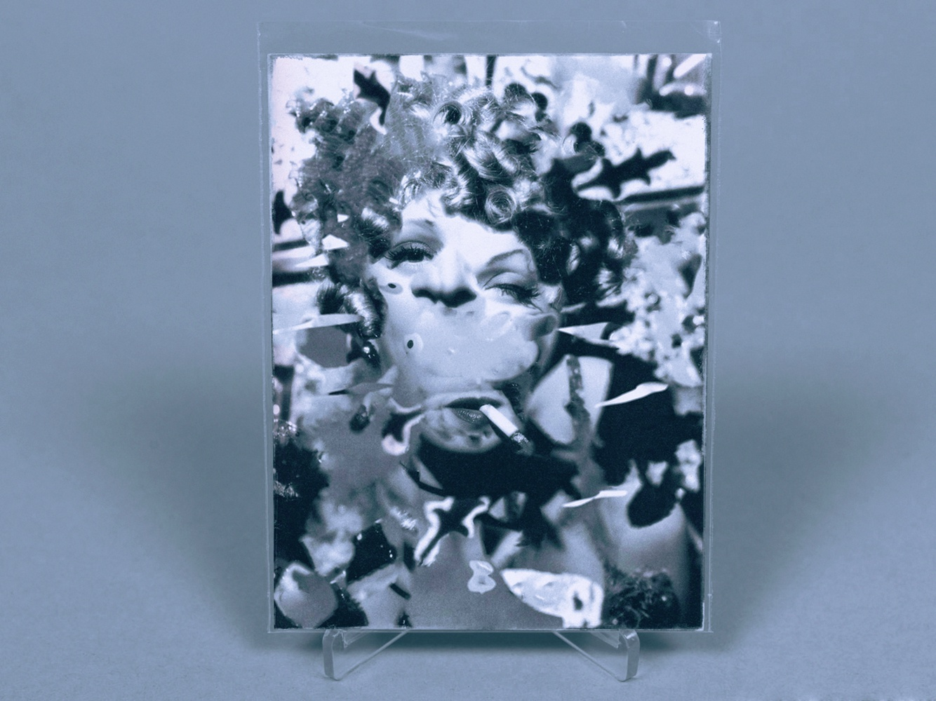Cronenberg World II woman fantasy sci-fi portrait distortion dietrich collage surreal graphic design illustration