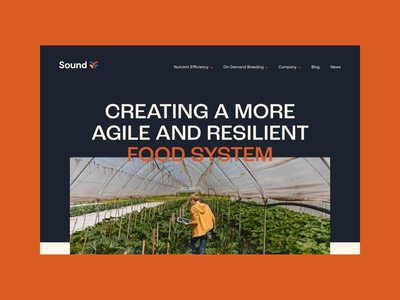 Sound Agriculture — Site Design animation motion technology agriculture agtech digital web design ux ui