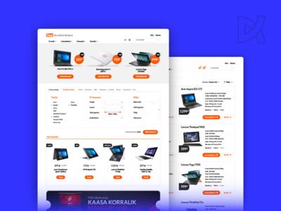 Flex Sülearvutikeskus css html interaction design content management web-design ui ux flex tech retailer laptop e-commerce
