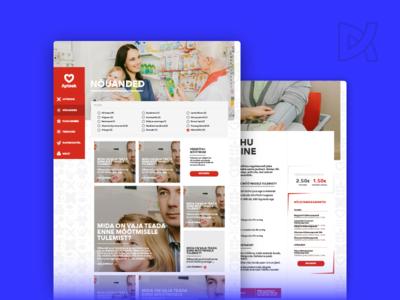 Südameapteek web-design usability user interface user experience ui ux hearth consultancy medicine pharmacy health