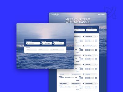 Group2Fly user experience user interface user flow ux ui garage48 hackathon work smart fly booking flight