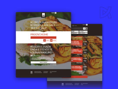 Lõuna (Lunch) product strategy graphic design css html web-design ui ux demo location food lunch
