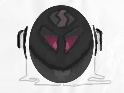 Audioball headphone ball audio music purple wacom doodle draw black
