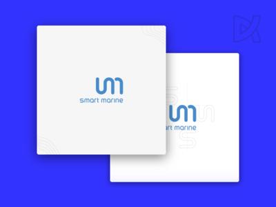 Smart Marine - Brand Visual Identity waves radio navigation marine smart style guide typography sketching logo lettering branding identity