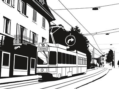 15er (wip) adobe illustrator illustrator illustration 15er zurich black and white vector illustration