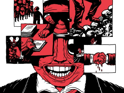Leader  leader corrupt politician editorial illustration illustration exhibition thirdeyecrying linnch