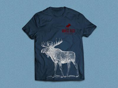 Moose Beer t-shirt design tshirt design print graphic design branding