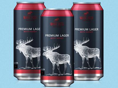 Moose Beer premium lager beerdesign package logo design print graphic design branding