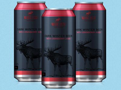 Moose beer - dark winter beer packaging packaging package beerdesign logo design print graphic design branding