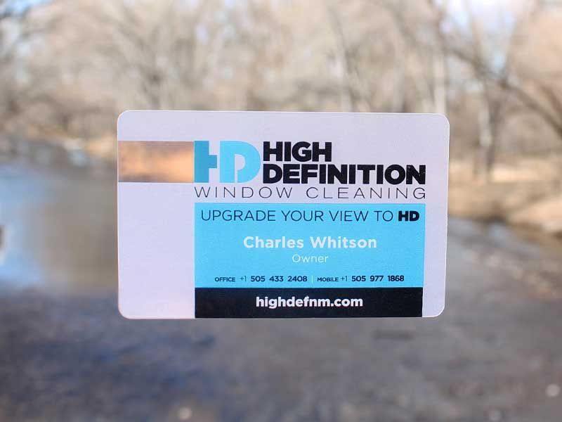 High Definition Window Cleaning Clear Business Cards By Paul Lukes