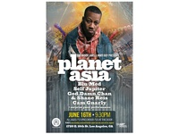 Planet Asia hip-hop show flyer
