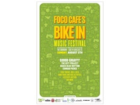 Foco Cafe Bike In Festival Poster