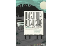 Bikes, Brews & Blockbusters Poster