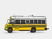 School Bus Illustration