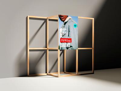 NOT A BRAND Poster design not not a brand fashion brand fashion branding design branding brand identity brand design