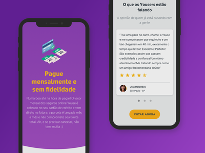 Youse Institucional website mobile design mobile ui mobile seguro illustration gradient websites website insurance company insurance insurtech youse material materialdesign interface ui design ui brand identity