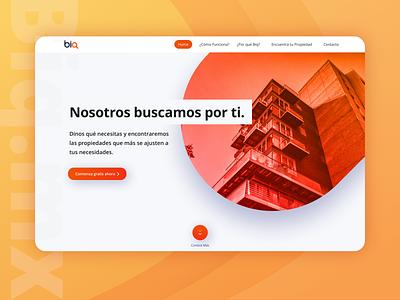 Biq Landing Page clean real estate orange website design biq landing page