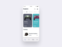 Gaming Shop UI Concept ui animation animation after effects colorful mobile ui ecommerce design gamer shop shop skin gamepad joystick ps5 ps4 gaming ecommerce