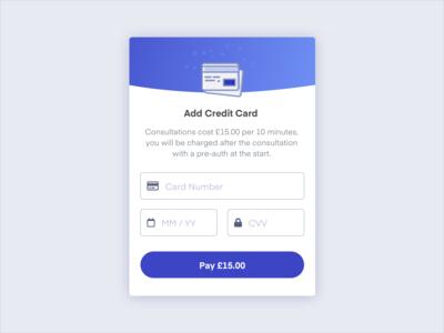 Credit card modal