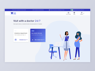 Online Medical Consultation Webapp medical care clean webapp doctor appointment ui