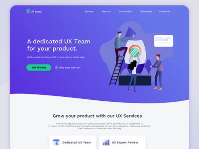 Agency Landing Page services web design website agency landing page
