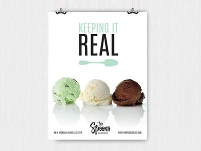 10Spoons Gelato Shop (group project) photgraphy photoshop design magazine ad logo gelato