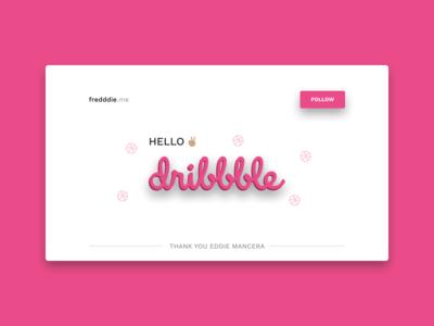 Hello Dribbble! 👋