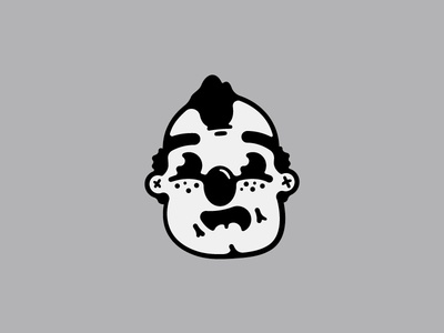 A balding clown man!