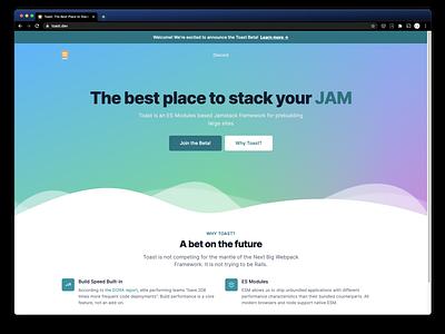 Toast Beta Landing Page
