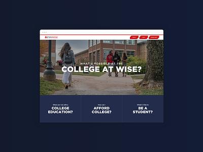 College Recruitment Website admissions university college education digital publishing storytelling branding website digital graphic design design