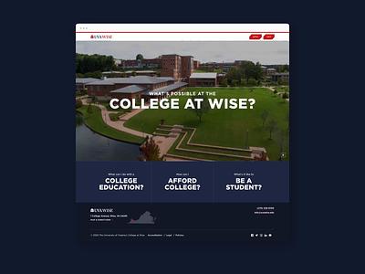 College Recruitment Website > In Motion university higher ed higher education education ux ui website storytelling digital graphic design design branding admissions