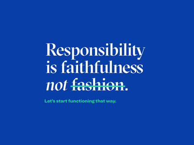 Yet another reminder. ux responsible ethics graphic design design