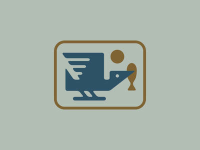 Kingfisher Exploration mark icon logo vector illustration storytelling digital editorial design graphic design