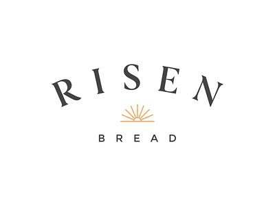 Risen Bread flat minimal typography illustration icon logo vector branding graphic design design