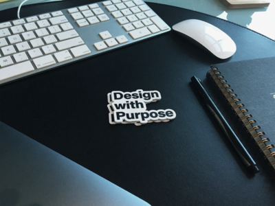 Design with Purpose Sticker