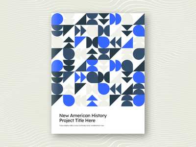 American History Booklet education history typography booklet print branding vector design graphic design editorial