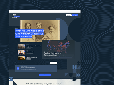 American History Education Website ui ux illustration branding digital website editorial digital publishing graphic design design