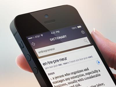 Dictionary App - WIP by ZAM | Dribbble | Dribbble