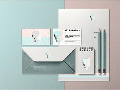 KEYRUN Branding Mockup Set branding envelope design logo design logo illustration illustra photoshop graphic design mock up