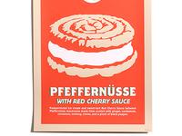 Pfeffernüsse With Red Cherry Sauce Poster