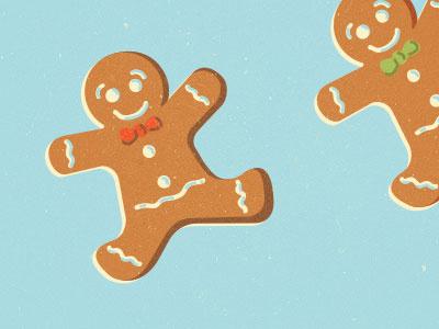 Gingerbread Man illustration design pattern icons gingerbread man christmas menu