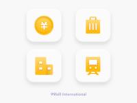 """Icons of """"99bill International"""" App"""