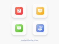 """Xiaohui"" Mobile Office App Icon Design 1"