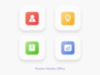 """Xiaohui"" Mobile Office App Icon Design 2"