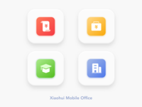 """Xiaohui"" Mobile Office App Icon Design 3"