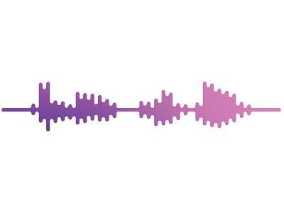 """""""Hello Dribbble"""" hello dribbble speech audio waveform gradient hello"""