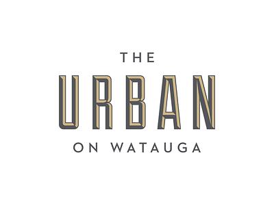 The Urban rental branding apartment logo design logo