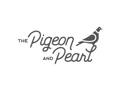 The Pigeon & Pearl apartment rental short term rental script branding design branding logo design logo
