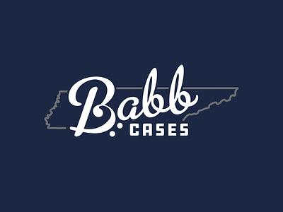 Babb Instrument Cases bass clef metroscript tennessee music brand design branding script logo design logo
